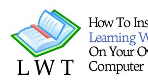 How To Install Learning With Texts On Your Own Computer