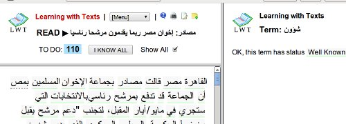 Learning With Texts LWT Arabic