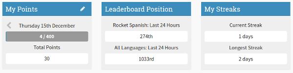 Rocket Languages Streaks