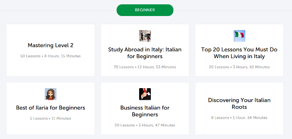 ItalianPod101 Learning Paths