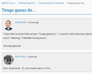 Rocket Spanish Forum