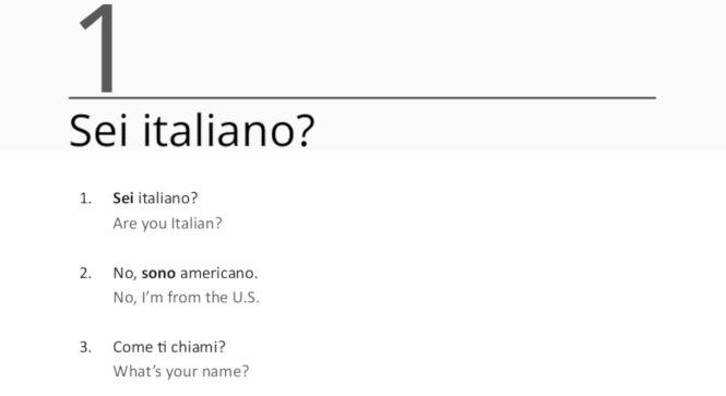 Ripeti Con Me Italian