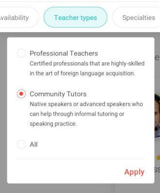 italki teacher types